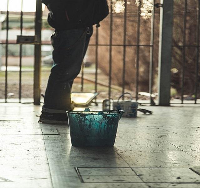 Paint splattering on floors